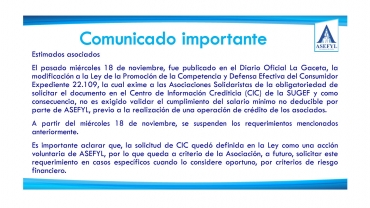Comunicado importante 20-11-2020