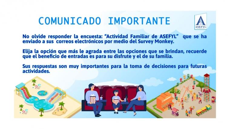 Comunicado importante Encuesta ASEFYL