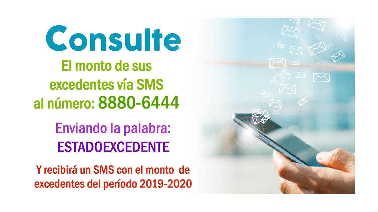Consulte el monto de sus excedentes vía SMS.