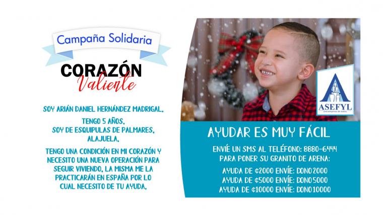 Campaña Solidaria Corazón Valiente.