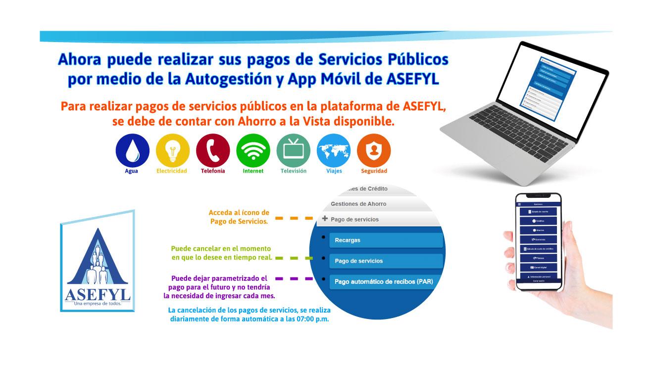 Realice sus pagos de Servicios Públicos con ASEFYL.